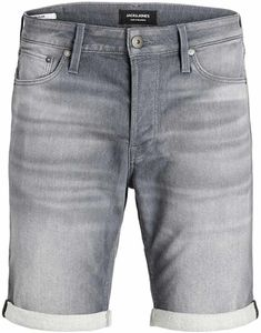 Jack & Jones JJIRICK Regular fit kurze Jeans grau, Gr. M