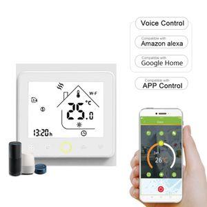 Wi-Fi Smart Thermostat Temperaturregler APP Control 5A Kompatibel mit Alexa / Google Home Fussbodenheizung für zu Hause - Weiss