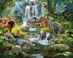Fototapete Dschungeltiere Safari