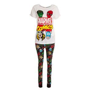 Marvel Comics Damen Avengers Pyjama Set 197 (38/40 DE) (Weiß/Schwarz)