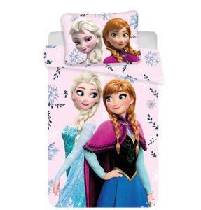 Disney Frozen Floral Kinder Bettwäsche Eiskönigin Anne Elsa Olaf Kopfkissen Bettdecke 100x135 cm