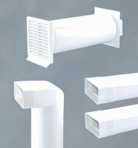 Abluftset Mauerkasten 125 mm - mit Rückstauklappe, Rechteckanschluss