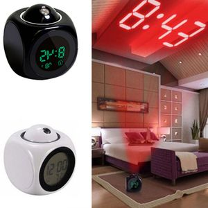 Digital Projektionswecker Projektionsuhr Wecker-Uhr mit Projektion LED-Projektionswecker