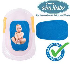 Baby Badeschwamm Sevibaby Sitzschwamm BLAU Badeunterlage Für Babys ab der Geburt 159-1