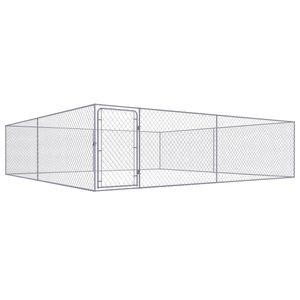 Hochwertiger - Outdoor-Hundezwinger Transportbox Hundekäfig - Tierlaufstall für Hunde Verzinkter Stahl 4 x 4 x 1 m für Hunde #DE47786