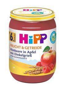 Hipp Frucht & Getreide ab 6.Monat, Himbeere in Apfel mit Dinkelgrieß, DE-ÖKO-037 - VE 190g