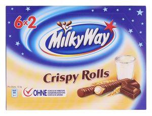 MilkyWay Crispy Rolls 6x2 Waffelröllchen mit Milchcreme 150g