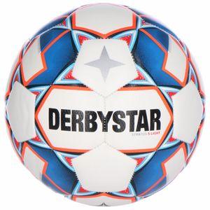 DERBYSTAR Stratos S-Light 290g Leicht-Fußball weiß/blau/orange 4