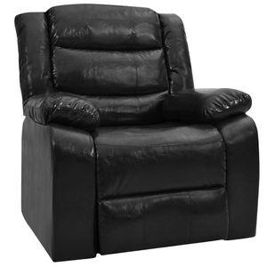 Möbel® Fernsehsessel Relaxsessel,Liegesessel,TV Sessel,Relax Liegestuhl Komfortabel Für Wohnzimmer Schwarz Kunstleder🌈6393