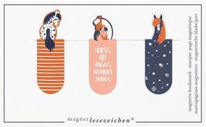Moses Magnetische Lesezeichen Pferde 3er-Set