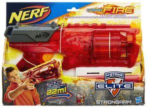 Hasbro A9322 Nerf N-Strike Elite Strongarm Sonic Fire Revolver mit Trommel Darts