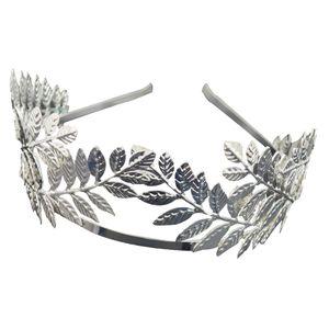 Boho Blatt Zweig Braut Haar Krone Kopfschmuck Kleid Alice Band Silber 2 14cm