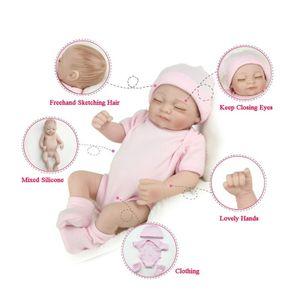 Reborn Baby Puppe Weich Silikon Schöne Naturgetreue Niedlich Junge Puppe Baby