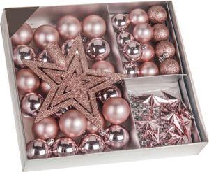 Weihnachtskugeln SHATTERproof 45 PCS - Farbe: Rosa