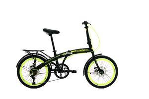 BELDERIA X7 Premium Faltrad, Klapprad in 20 Zoll - Fahrrad für Herren  und Damen - 7 Gang-Schaltung Shimano // Folding City Bike // mit Scheibenbremsen