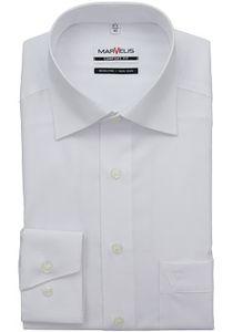 Marvelis Comfort Fit Hemd Langarm Uni Popeline Weiß 7973/64/00, Größe: 46