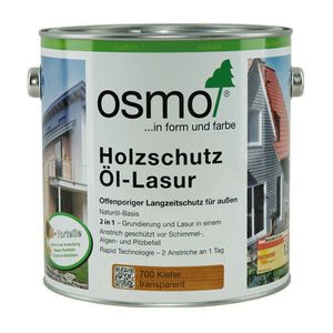 OSMO Holzschutz-Öl Lasurfarbe 907 Quarzgrau 2,5L