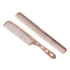 2 Stuecke Salon Haar Kamm mit Skala Professionelle Friseur Friseur Stahl Raum Aluminium Metall Haare Schneiden Kamm