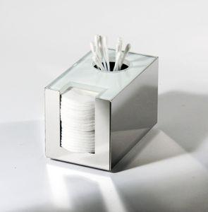 Wattepadhalter/ Ohrstäbchenhalter (Glas weiß)
