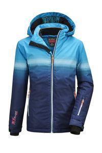 killtec Mädchen Skijacke Glenshee GRLS Ski JCKT E, Farbe:azur, Größe:140