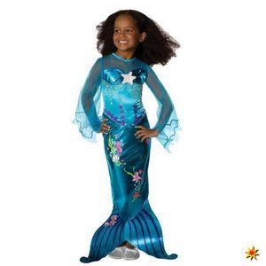 Kinderkostüm Meerjungfrau Blue, Größe:S (3-4 Jahre)