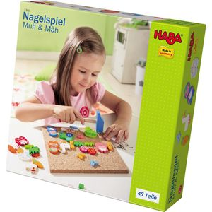 HABA 2380 - Nagelspiel Muh & Mäh 4010168023809