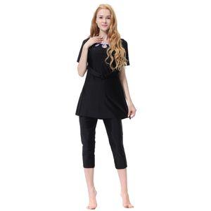 muslimische Frauen Bademode Badeanzug Kurzarm islamischen Beachwear Burkini m schwarz Größe M Farbe Schwarz