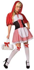 Rotkäppchen-Kostüm für Damen Einheitsgrösse