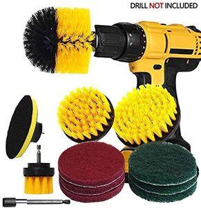 Reinigungsbürste Felgenbürste Set Kompatibel Fast Bohrmaschine, Drill Brush, Akkuschrauber Bürstenaufsatz, Power Scrubber Reinigung für Felgen, Badewanne, Küche