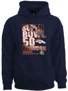 Majestic Athletic - NFL Denver Broncos Superbowl 50 Champions Hoodie - Blau Farbe: Blau Größe: M