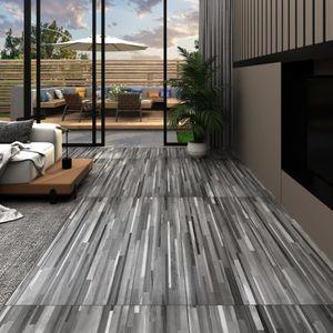 PVC-Laminat-Dielen 4,46 m² 3 mm Selbstklebend Gestreift Grau