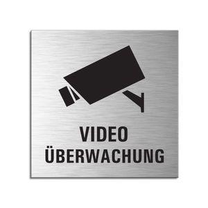 Schild - Video Überwachung | Türschild 120 x 120 mm Aluminium selbstklebend
