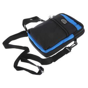 Universal Taktische aus Nylon Handytasche Outdoor Smartphone Pouch Kompakt Beutel Gürteltasche Farbe Blau