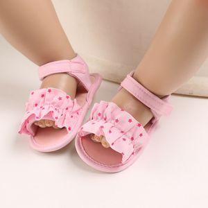 Kleinkind Kinder Baby Jungen Mädchen Star Gummisandalen Rutschfeste First Walking Schuhe Größe:19,Farbe:Rosa