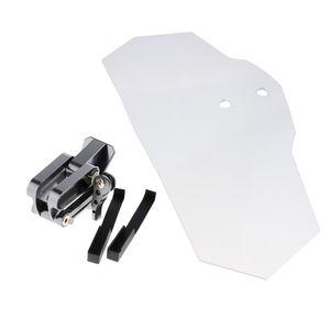 1 Stück Windschutzscheibe , 1 Stück Aluminiumlegierungsblock (schwarze Halterung) klar wie beschrieben