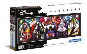 Clementoni puzzle DisneyPanorama-Bösewichte 1000 Teile