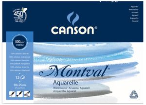 """CANSON Zeichenpapierblock """"Montval"""" 240 x 320 mm 300 g/qm 12 Blatt"""