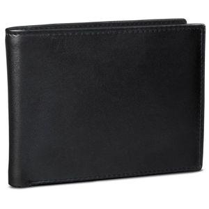 ROYALZ Vintage Portemonnaie aus Leder für Herren Brieftasche Leder-Geldbörse Portmonee Geldbeutel Etui EC-Karten-Fach, Farbe:Schwarz