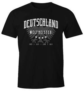 Herren Fan-Shirt Deutschland Adler WM 2018 Fußball Weltmeisterschaft Trikot Moonworks®  4XL