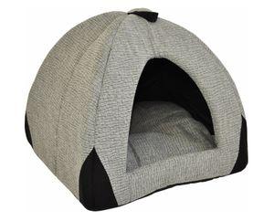 Hundehöhle/Katzenhöhle Woody grau 45 cm