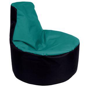 Sitzsack Gamer Riesensitzsack Kinder Sitzsäcke Erwachsene Indoor Beanbag Outdoor Gaming Bean Bags Boden Sitzsack gefüllter Sessel Lounge Sitzkissen 12 Farben wählbar (Schwarz-Türkis)