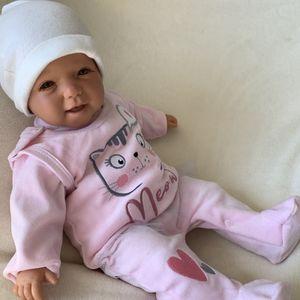 Baby Mädchen Set 2-teilig Strampler + Shirt Gr. 56 Katze rosa