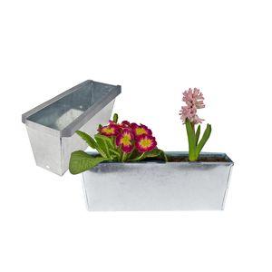 Blumenkasten Europalette 6er Set Pflanzkasten Zink für Palette 36cm
