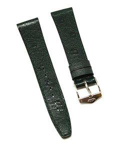 Uhrenarmband FORTIS LEDER grün Ton in Ton 16mm NEU