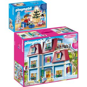 PLAYMOBIL 9495 70205 Dollhouse 2er Set Weihnachtli