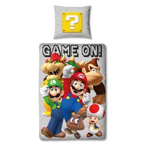 Super Mario & Friends Bettwäsche 80x80 + 135x200 cm - 100% Baumwolle
