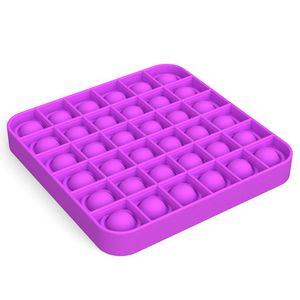 Push Pop Pop Bubble Sensorische Zappeln Stressabbau Xmas Geschenk Spielzeug Lernspielzeug Farbe : Square-Lila
