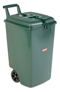 Mobiler Abfallbehälter - Grün