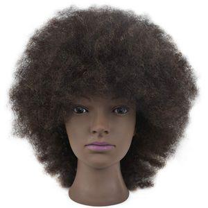 Übungskopf Trainingskopf für Frisöre Frisierkopf Friseurkopf Schaufenter Puppenkopf Mannequin Kopf Weiß 100% Kunsterfaser Haare Weiß