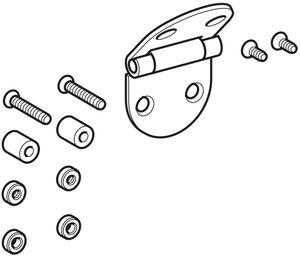 Geberit Edelstahlscharniere passend zu Joly Urinal-Deckel